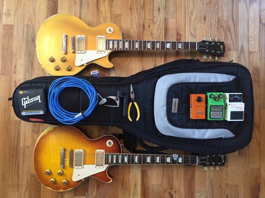 Tommy Fedak and his Mono Dual Guitar Case