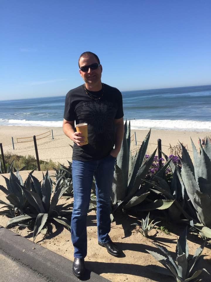 Tommy Fedak on San Diego beach