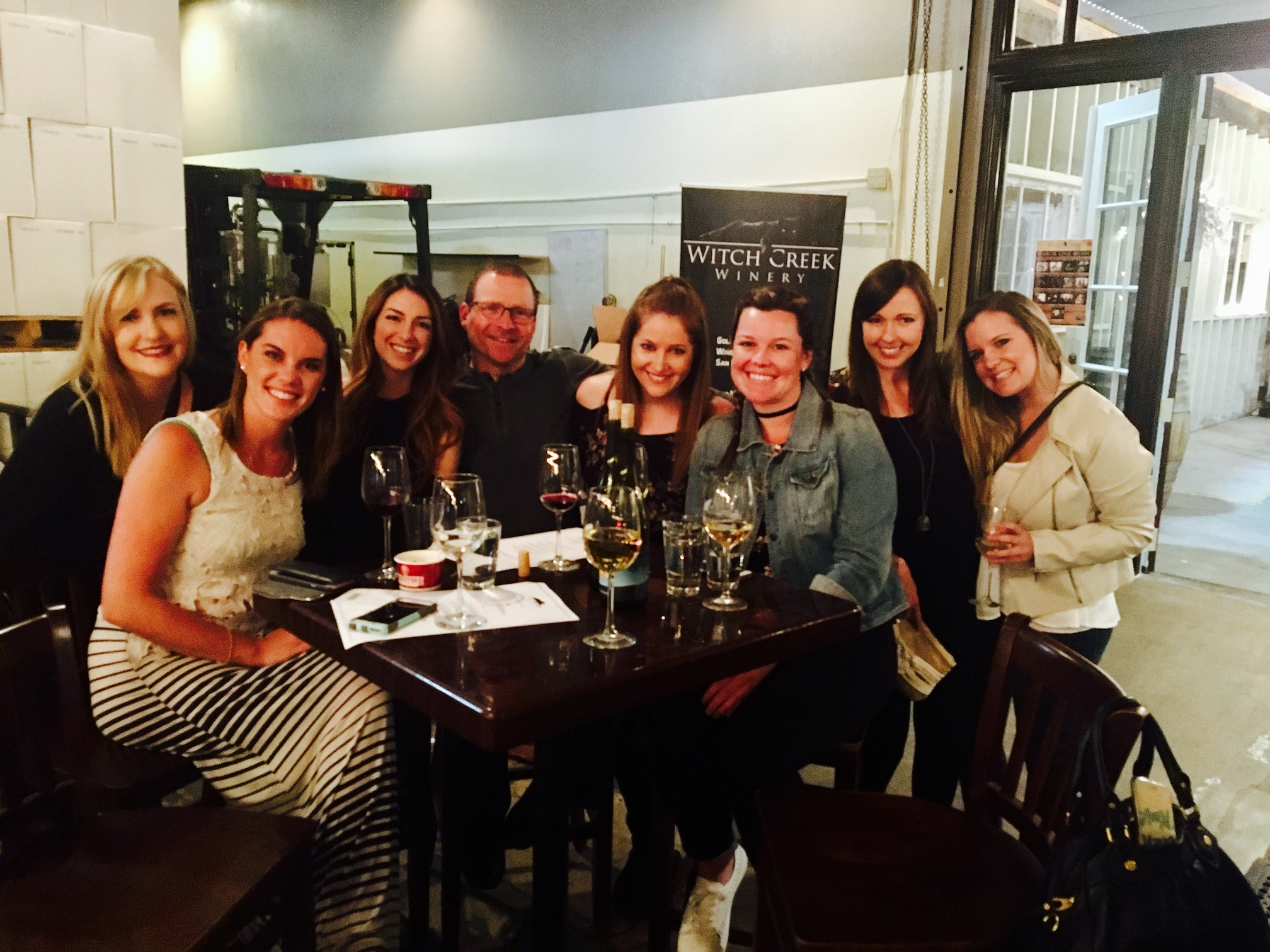 Tommy Fedak and friends at Witch Creek Winery